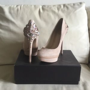 Genuine Brian Atwood jewel platform pumps size 10